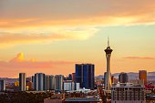 Sunset over Las Vegas, NV
