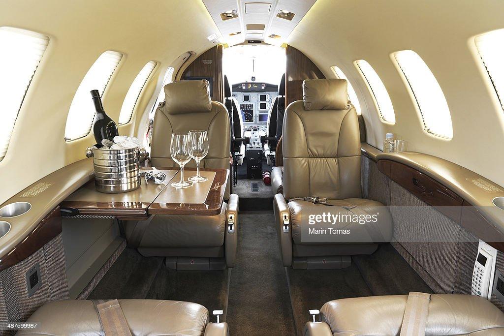 Business plane interior