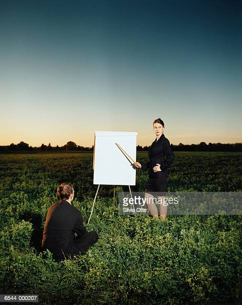 Business Presentation in Field