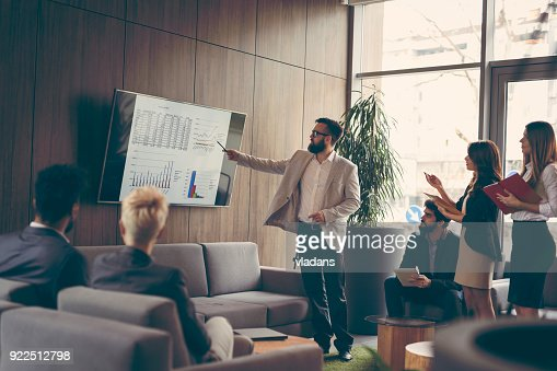 Business presentation : Stock Photo