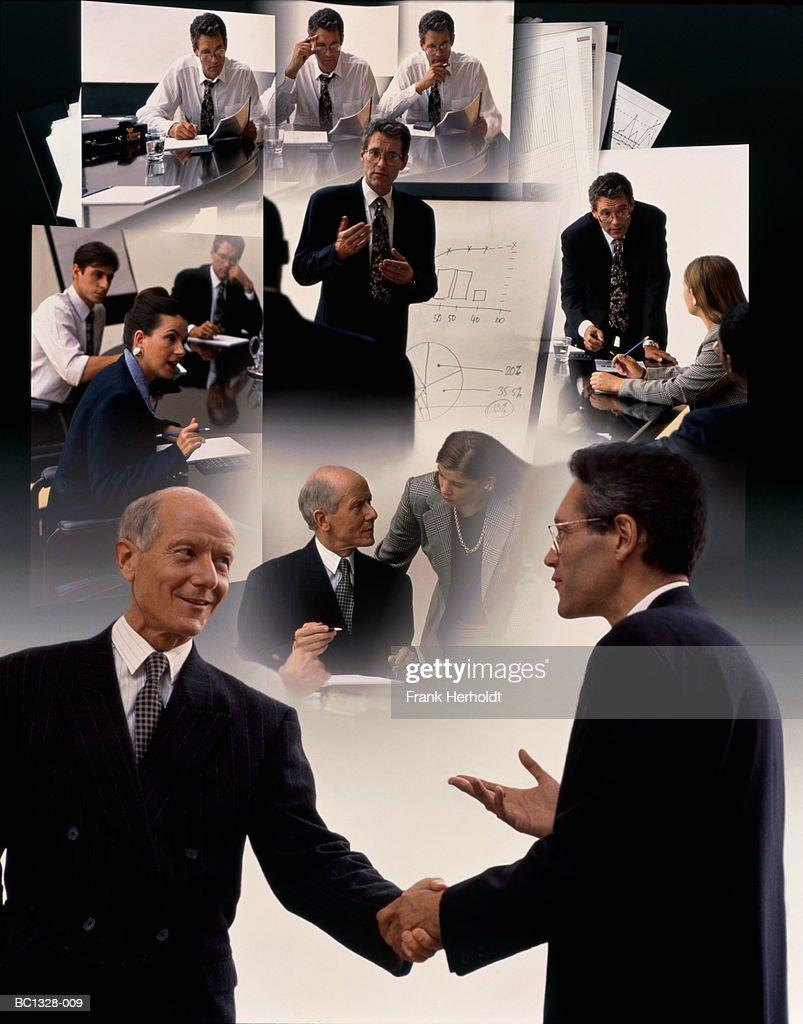Business presentation (Digital Composite) : Stock Photo