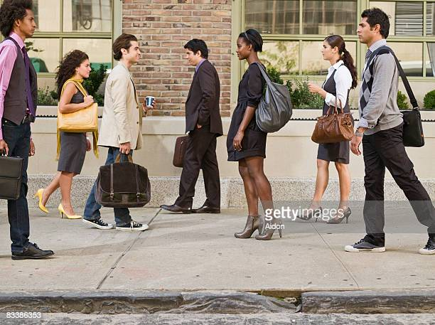 Business professionals on street