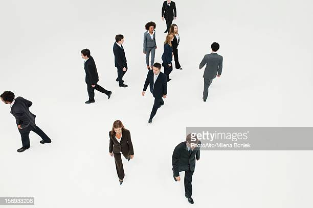 Business professionals on the move