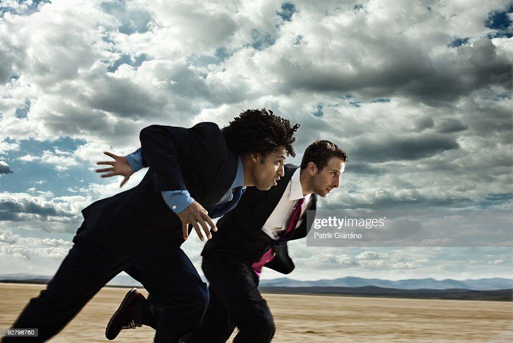 Business Race in the Desert : Stock Photo