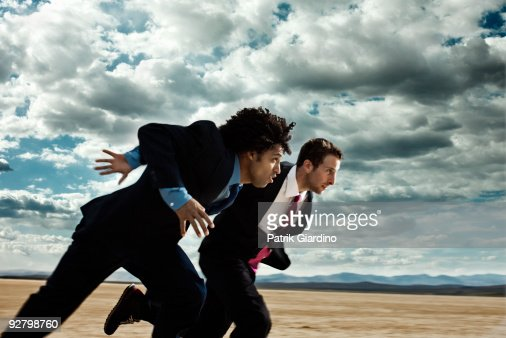 Business Race in the Desert : Stock Photo