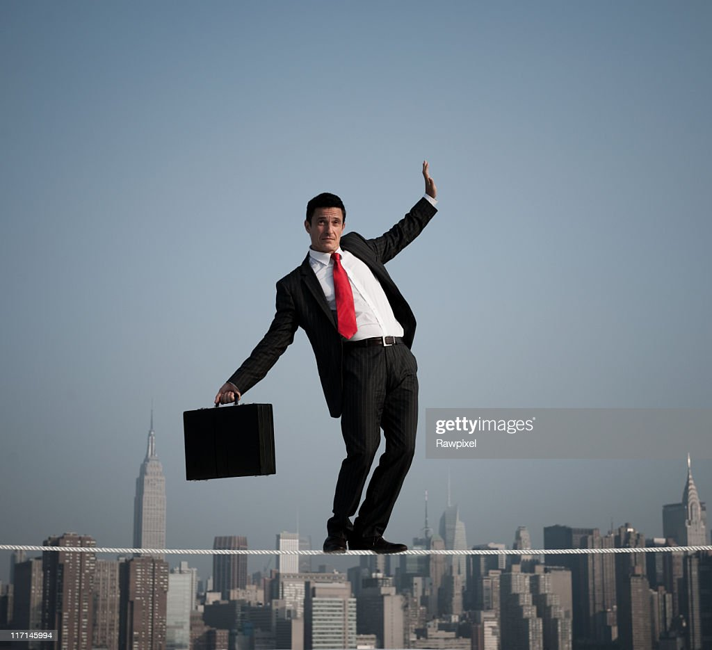Business Risk in the City : Stock Photo