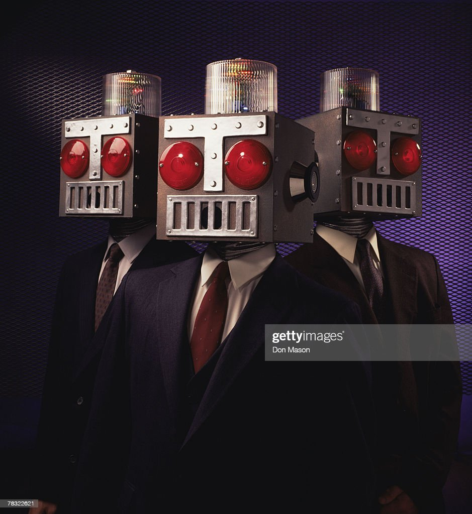 Business robots : Stock Photo