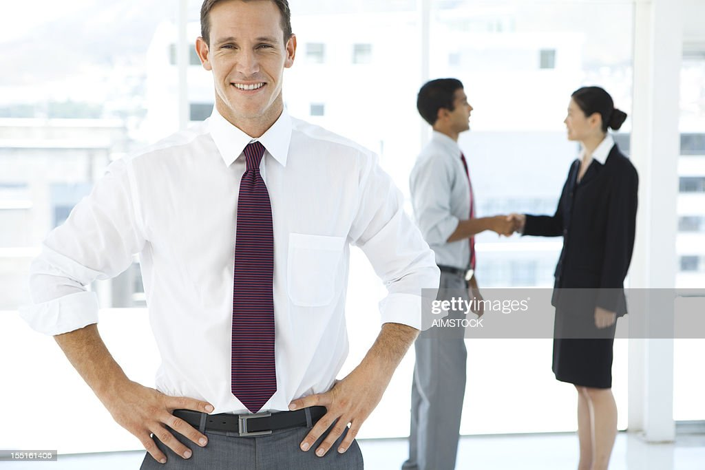 Business satisfaction : Stock Photo