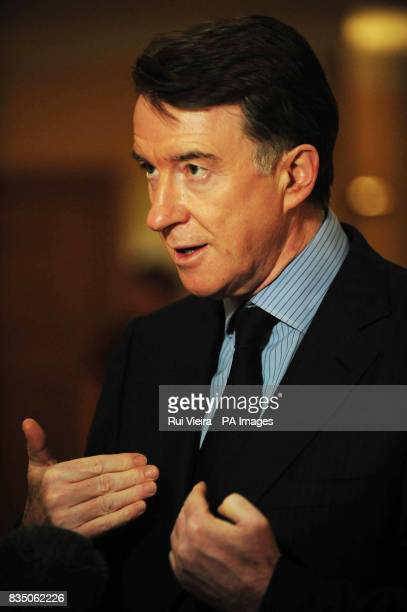 Business Secretary Lord Mandelson before a speech to the CBI's manufacturing dinner at the Hilton Metropole Hotel in Birmingham