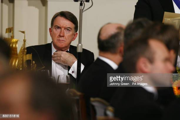 Business Secretary Lord Mandelson prepares to deliver his speech at the annual Trade and Industry Dinner at Mansion House in the City of London...