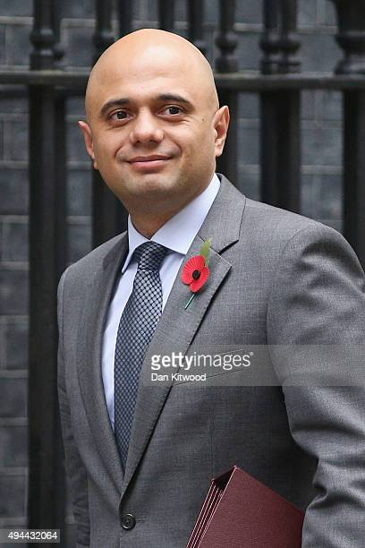 Business Secretary Sajid Javid arrives at Downing Street for a cabinet meeting on October 27 2015 in London England Peers in the House of Lords voted...
