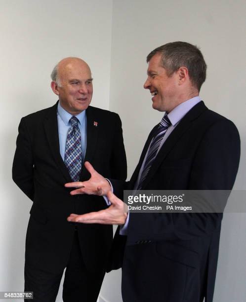 Business Secretary Vince Cable joins Scottish Liberal Democrat leader Willie Rennie on a tour of ETDE Contracting firm near Edinburgh PRESS...