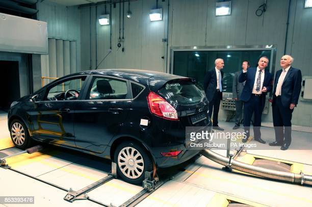 Business Secretary Vince Cable looks at a Ford Fiesta under test in hot conditions during a visit to Ford Technical Centre at Dunton Essex after Mr...