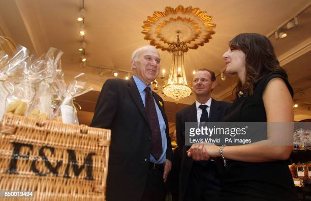 Business Secretary Vince Cable talks with Leeds based new Serial Entrepreneur in Residence Lawrence Tomlinson and new Entrepreneur in Residence Rekha...