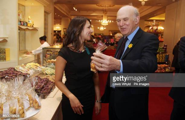 Business Secretary Vince Cable with new Entrepreneur in Residence Rekha Mehr founder and owner of Pistachio Rose a Londonbased business creating...
