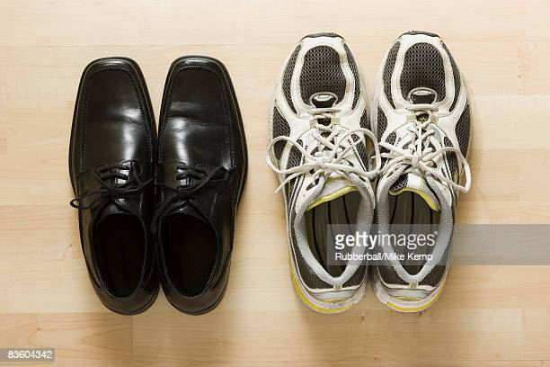 business shoes and athletic shoes