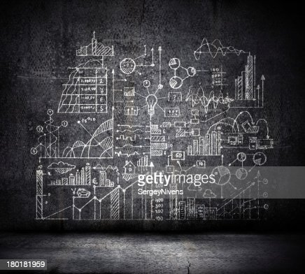 Business sketch : Stock Photo