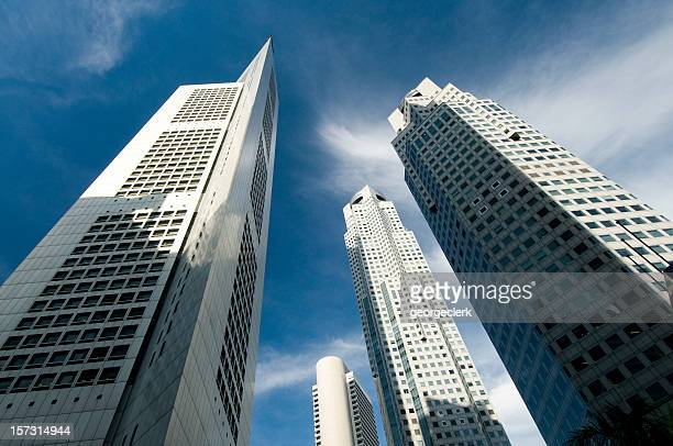 Business Skyscrapers in Singapore.