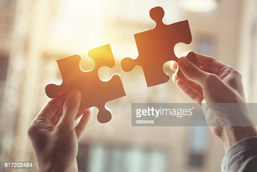 Business solutions, success and strategy concept : Stock Photo