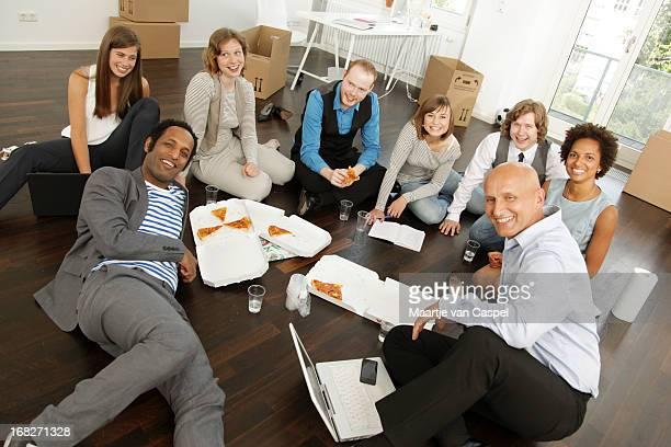 Affaires démarrage, un déjeuner de travail