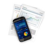 business stocks on mobile smartphone
