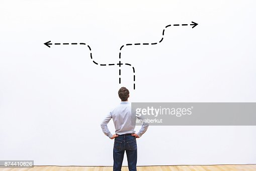 business strategy or decision making concept : Stock Photo