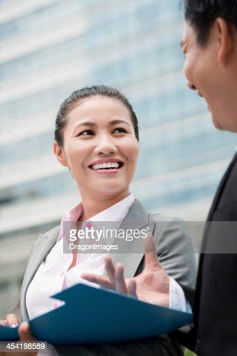 Negócio de falar : Foto de stock