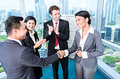 Business team applause in meeting