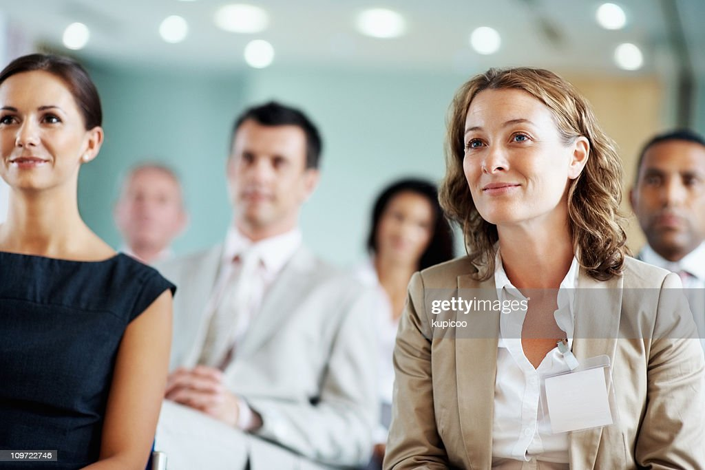 Business team at a seminar : Stock Photo