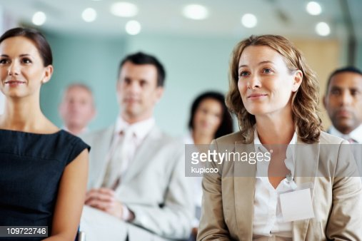 Business team at a seminar : Stockfoto