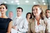 Business team at a seminar