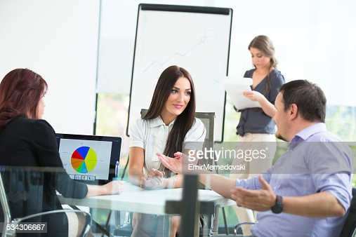 Business team discussing over future strategies
