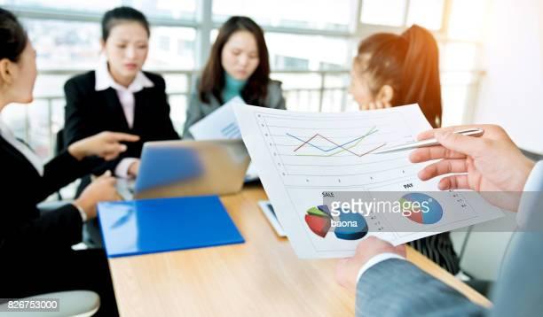 Business-team diskutieren