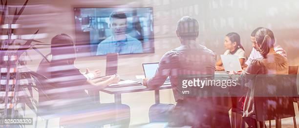 Business-team, die Videokonferenz
