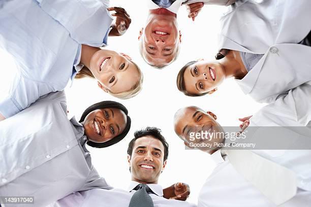 Business team huddling