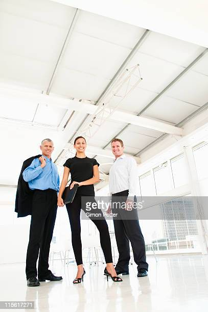 Business team in bright office