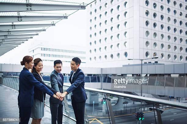 Equipo de negocios en Hong Kong