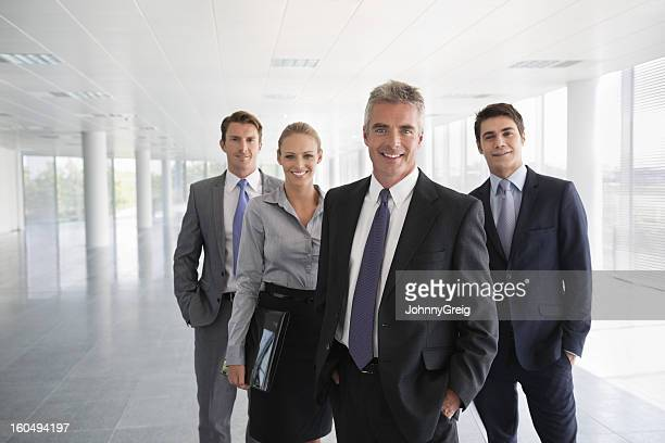 Business Team In Office Building