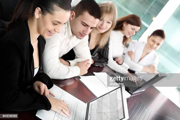 Equipe de Negócios no escritório.