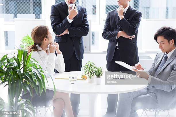 Business team is a meeting in modern office