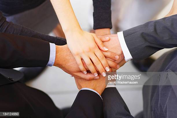 Business team Beitritt Hände