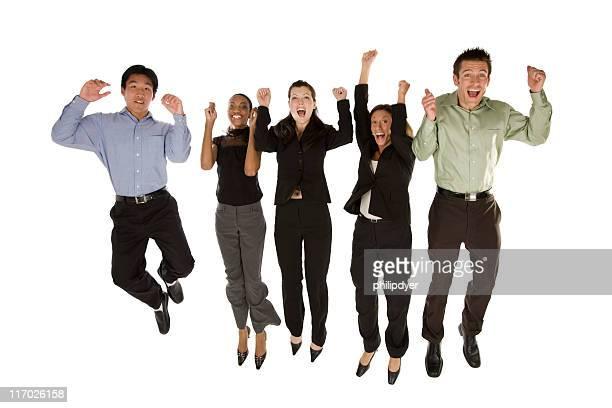 Business team-jumping