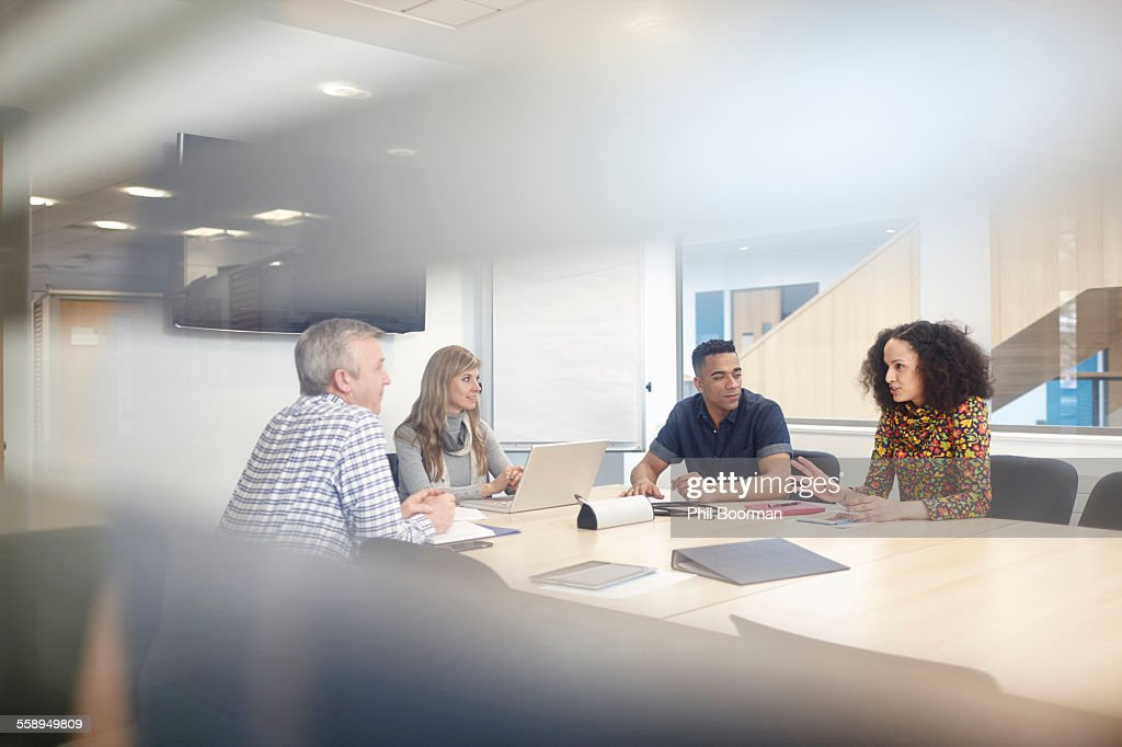 Business team meeting at conference table