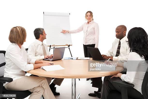 Réunion de l'équipe d'affaires