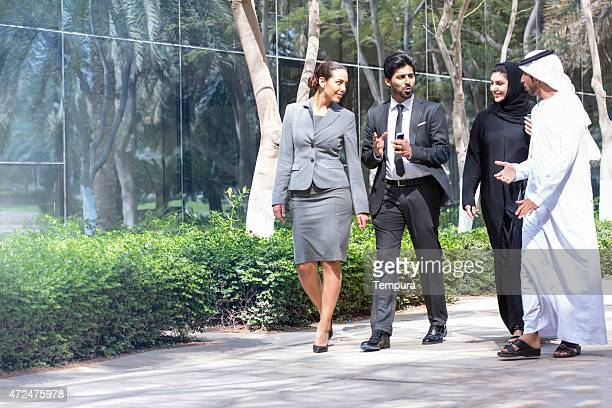 Business team portait a Dubai.