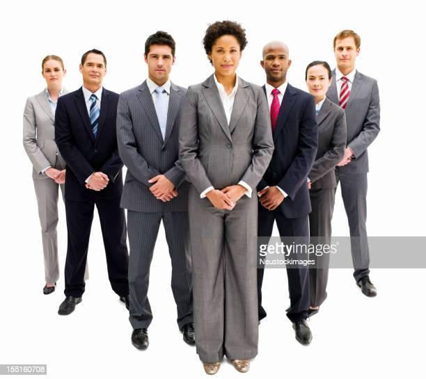 Business Team stehen in Bildung-isoliert
