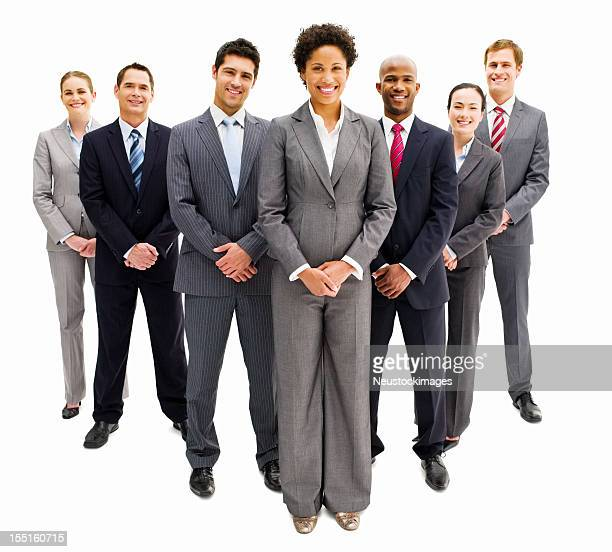 Business Team Standing in Formation - Isolated