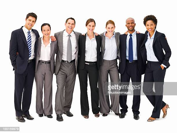Business Team Standing Together - Isolated