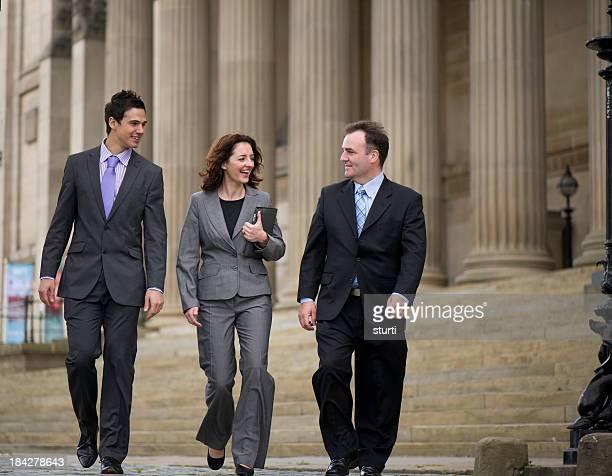 Affaires équipe marche