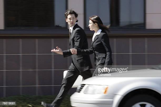 Business team walking